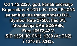 TV Kopernikus na satelitu