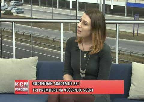 KCN Popodne – Tara Manic – rediteljka predstave ( TV KCN 06.03.2021.)