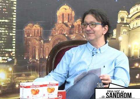 Prva noc sa dr Sandrom 26 – Ivan Lapcevic, bivsi rukometas (TV KCN 01.05.2021)