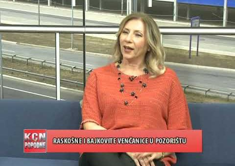 KCN Popodne – Tijana Cvetkovic, vlasnica salona svecanih haljina i vencanica (TV KCN 25.09.2021)